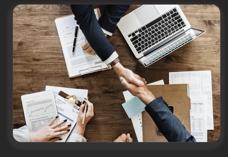 corporate partnering blockchain district 1